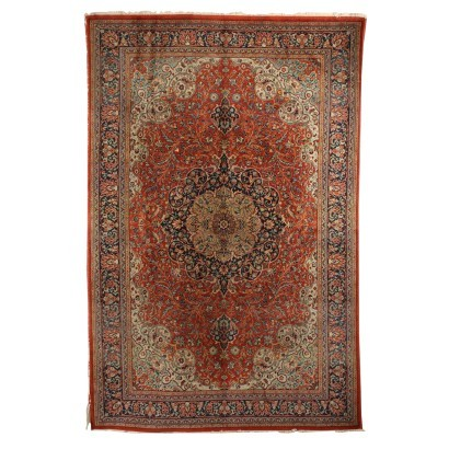 Mechanical Carpet Wool Cotton Italy 1990s