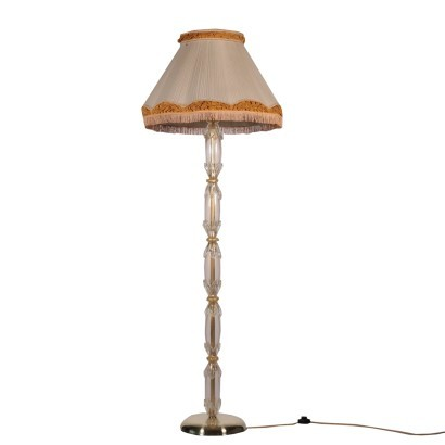 Floor Lamp Brass Murano Glass Italy 20th Century