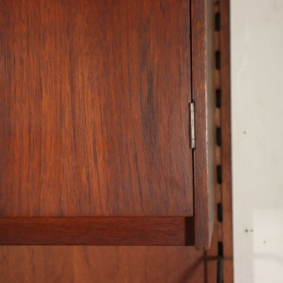 Bookcase Teak Veneer Italy 1960s Italian Production