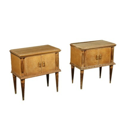 Pair of Empre Revival Bedside Table by La Permanente Mobily Cantù 1900
