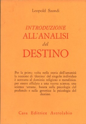 Introduzione all'analisi del destino