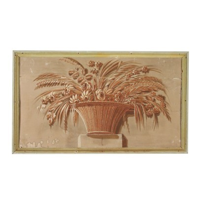 Neoclassical Decorative Element Painting 18th Century