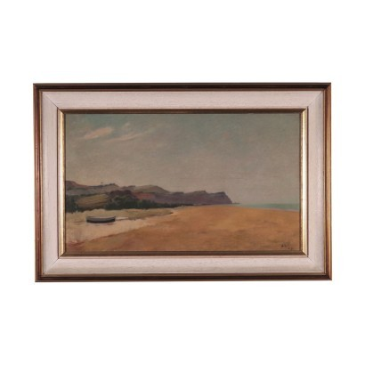 Roberto Aloi Oil on Board Italy 20th Century