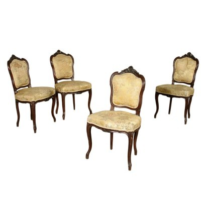 Group of Four Barocchetto Revival Chairs Italy 20th Century