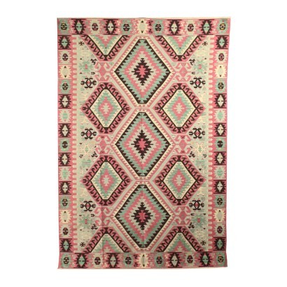 Kilim Carpet Cotton Wool Turkey 1990s