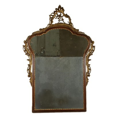 Venetian Barocchetto Mirror Walnut Italy 18th Century