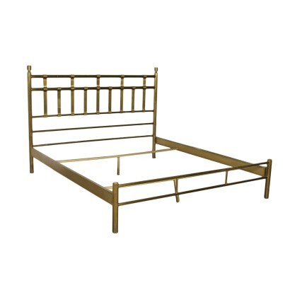 Queen SIze Bed Brass Italy 1960s Italian Production
