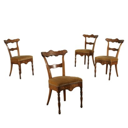 Group of Four Charles X Chairs
