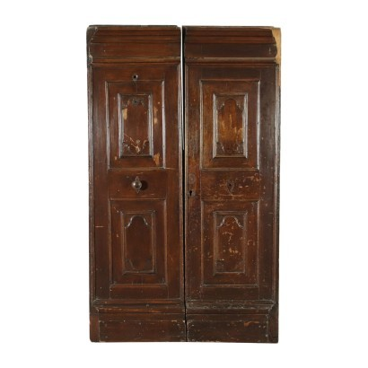 Door Walnut Pine Italy 18th Century