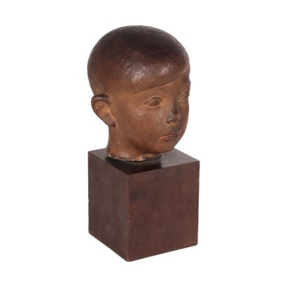 Testa in Terracotta Ivo Soli (1898-1976)
