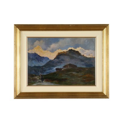 Oil on Board Cersare Gheduzzi 20th Century