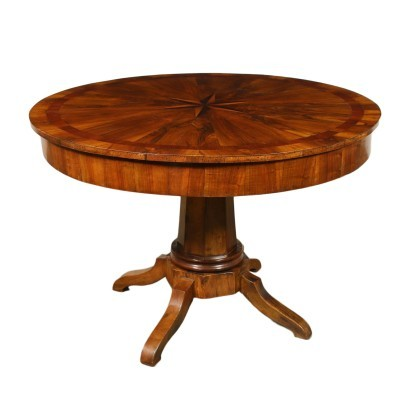 Table Mahogany Walnut Italy 19th Century