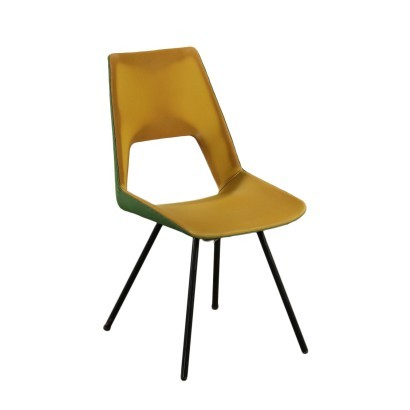 Chair Foam Skai Metal Italy 1960s G. De Vivo