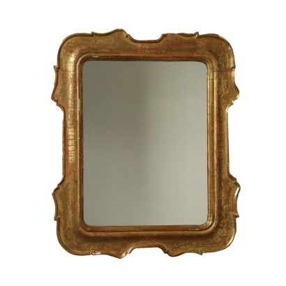 Umbertine Revival Cabaret Mirror Italy 19th Century