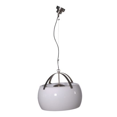 Vico Magistretti Ceiling Lamp Anodized Aluminium Glass 1960s 1970s