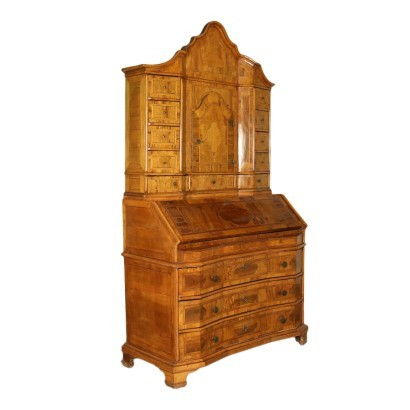 Baroque Drop-Leaf Secretaire Turned Into a Cupboard Italy 18th Century