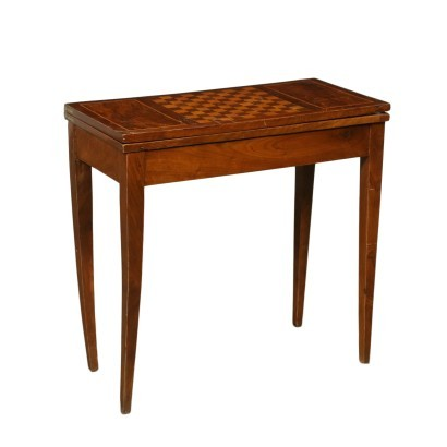 Revival Game Table Walnut Italy 20th Century