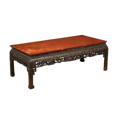 Small Oriental Table Scagliola Chalk Italy 20th Century