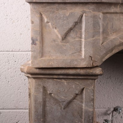 Lombard Baroque Fireplace Marble Italy 17th-18th Century