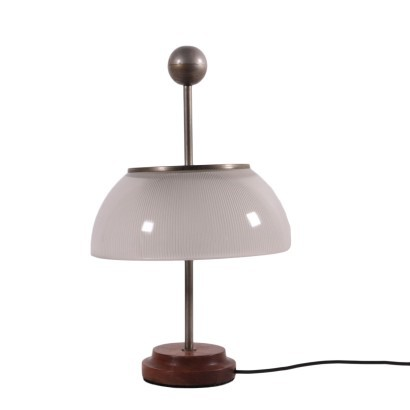 Sergio Mazza Table Lamp Wood Glass Brass 1960s