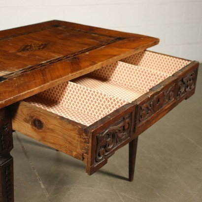 Venetian Neo-Classical Writing Desk Cherry Italy 18th Century