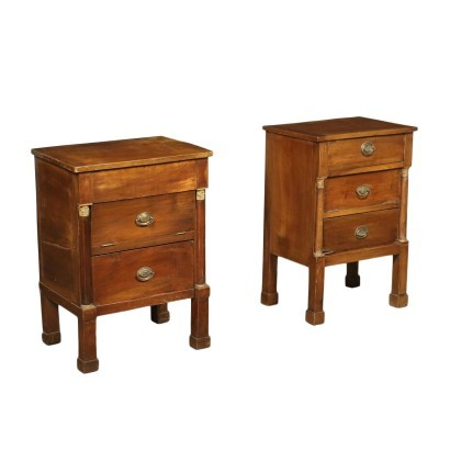 Pair of Empire bedside tables