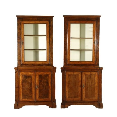 Pair of Neoclassical Corner Cabinets