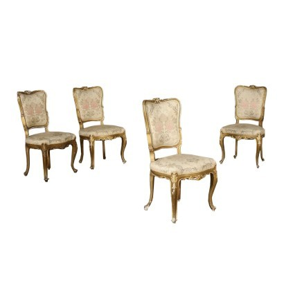 Group of Four Baroque Style Chairs