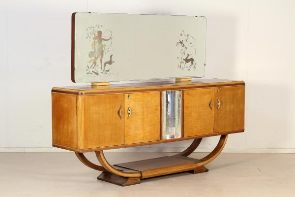 Buffet con specchio anni 20 30 mobilio modernariato for Mobili anni 20