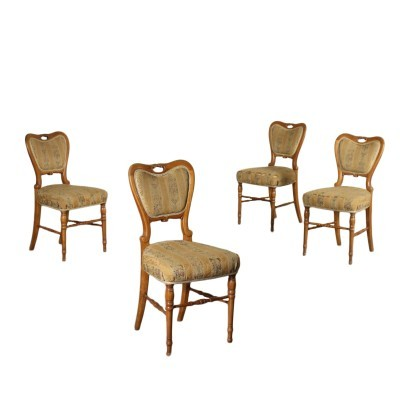 Group of Four Austrian Biedermeier Chairs