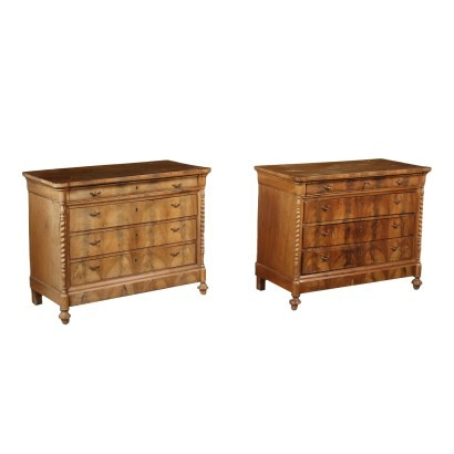 Pair of Charles X Chest of Drawers