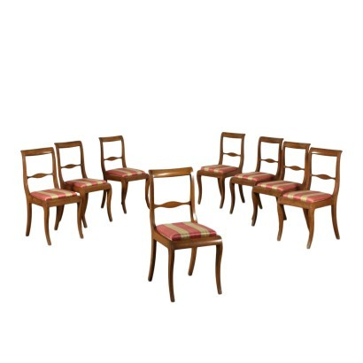 Group of Eight Louis Philippe and Style Chairs