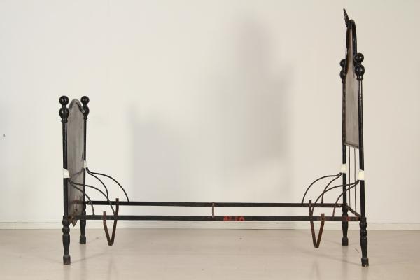 Letto in ferro effetto legno mobili in stile bottega - Mobili in ferro ...