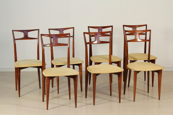 Tavolo e sedie in stile Ico Parisi - Tavoli - Modernariato ...