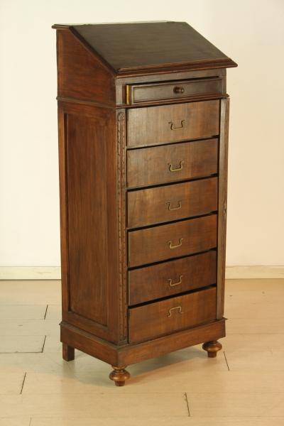 Schedario da ufficio mobili in stile bottega del 900 - Cassettiera schedario da ufficio ...