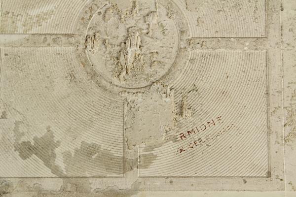 Piastrella decorata oggettistica modernariato dimanoinmano.it