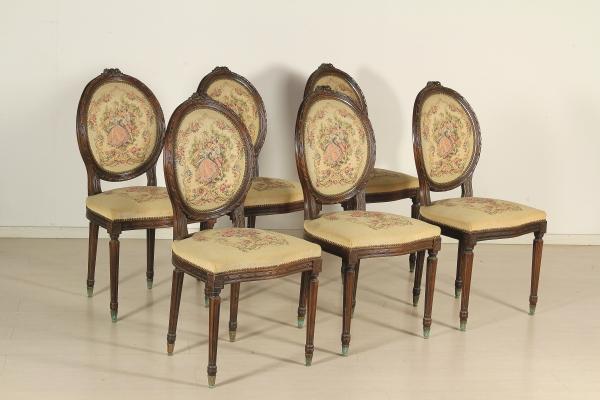 Gruppo sei sedie stile neoclassico mobili in stile for Gruppo mobili