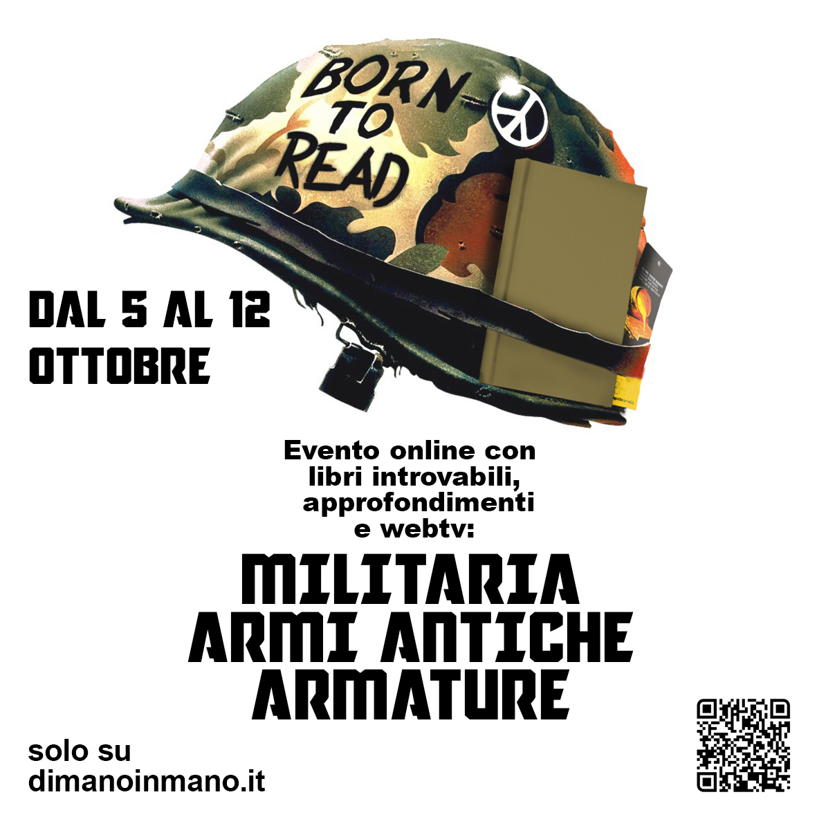 Born To Read - Evento online con libri Militaria, Armi Antiche, Armature