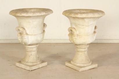 Oggettistica coppia di vasi in marmo for Vasi marmo