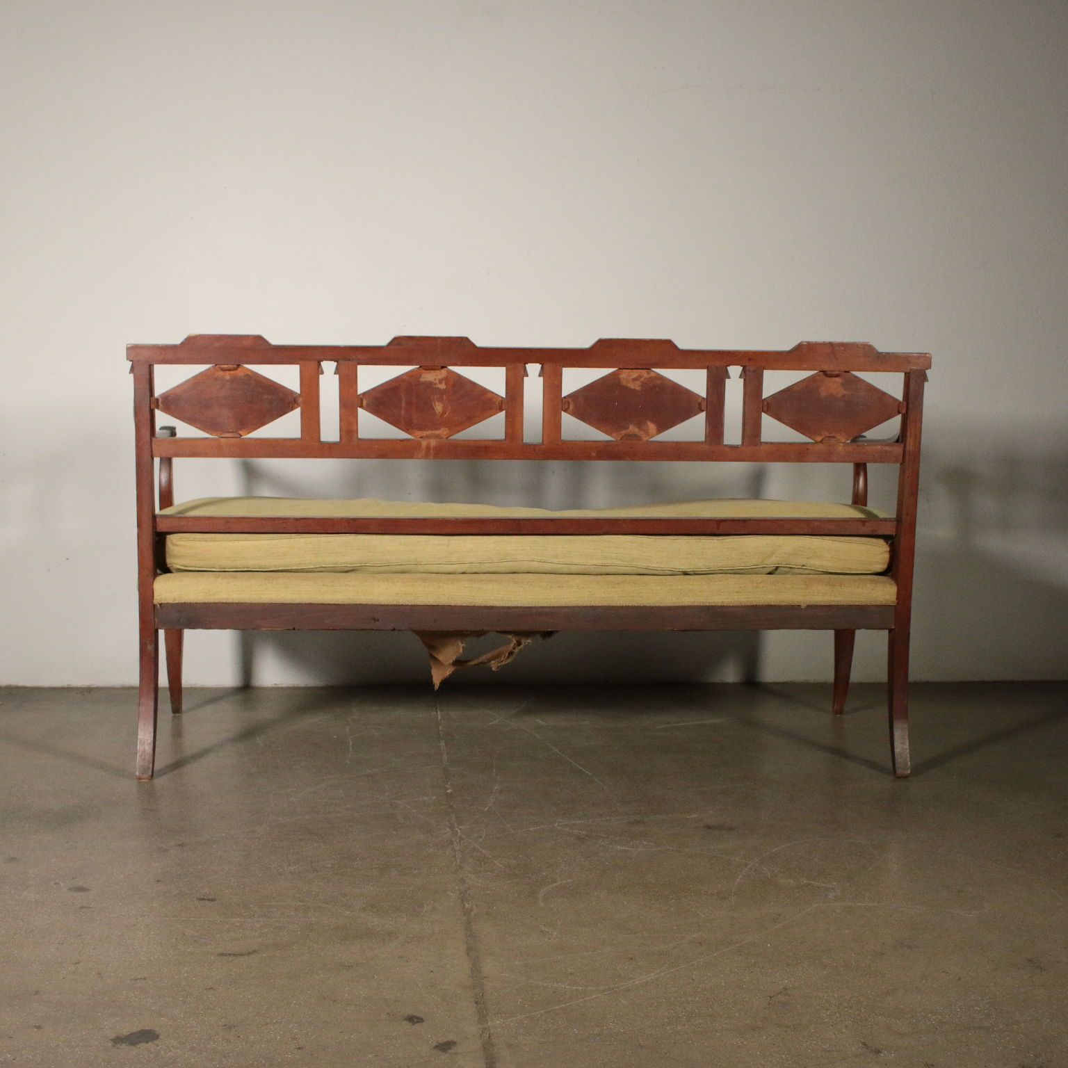 Elegant Sofa Cherry Wood Italy Early 1800s 11