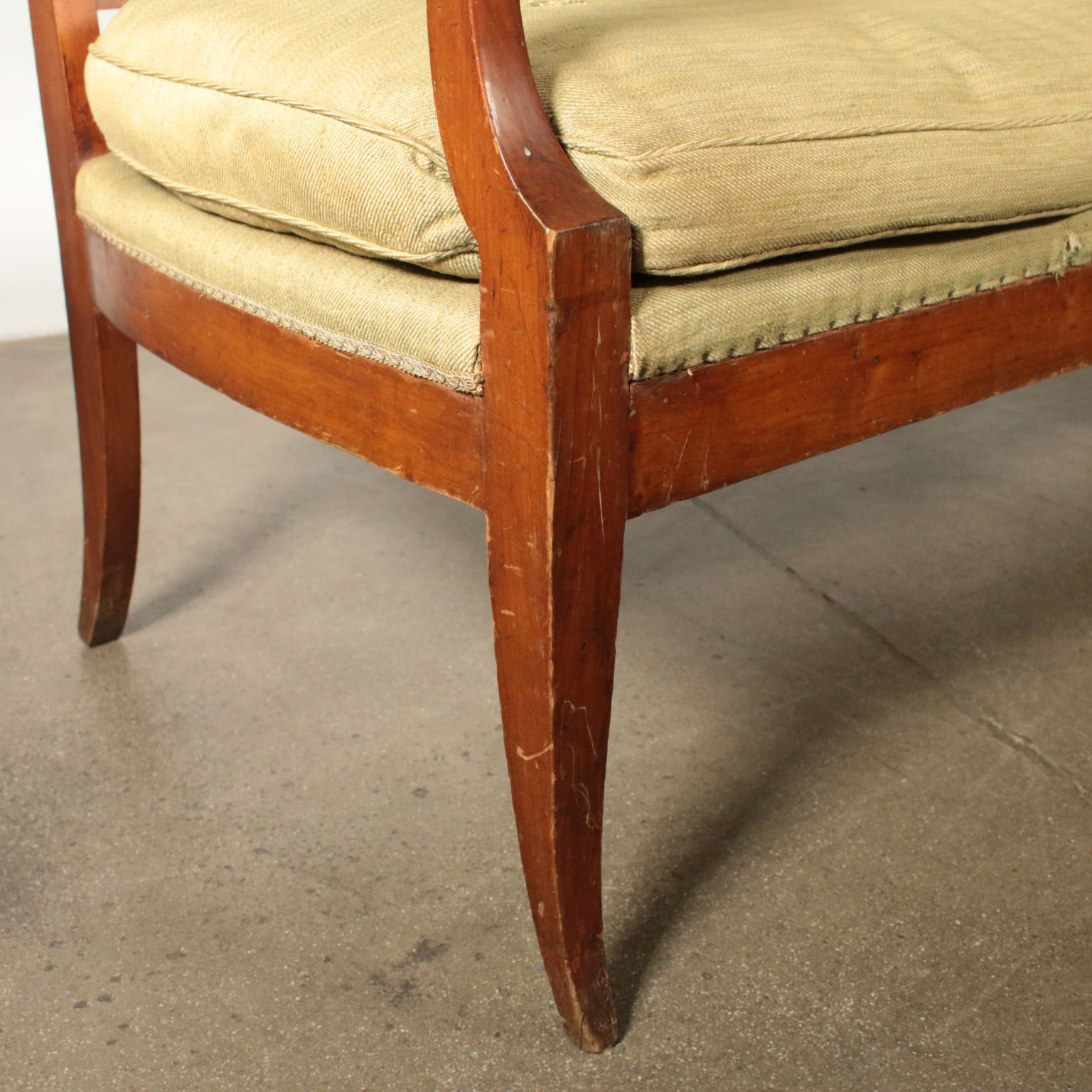 Elegant Sofa Cherry Wood Italy Early 1800s 7