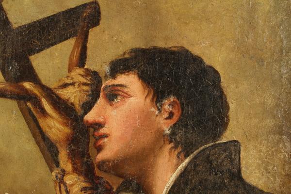 Pittura antica san luigi gonzaga in preghiera for Gonzaga mercatino