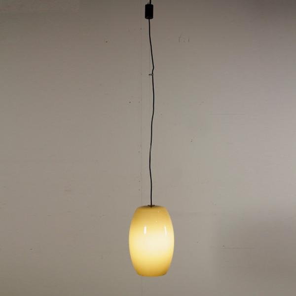 Lampada Vistosi vetro soffiato Modernariato anni 50 Italia design A. Pianon