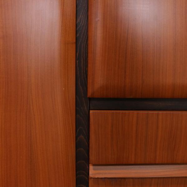Wardrobe teak veneer wood vintage manufactured in italy