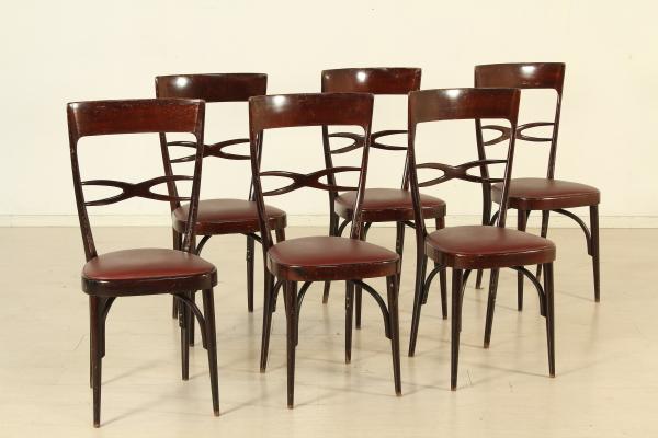Sedie Francesi Usate : Sedie da pranzo in legno francia anni set di in sedie da