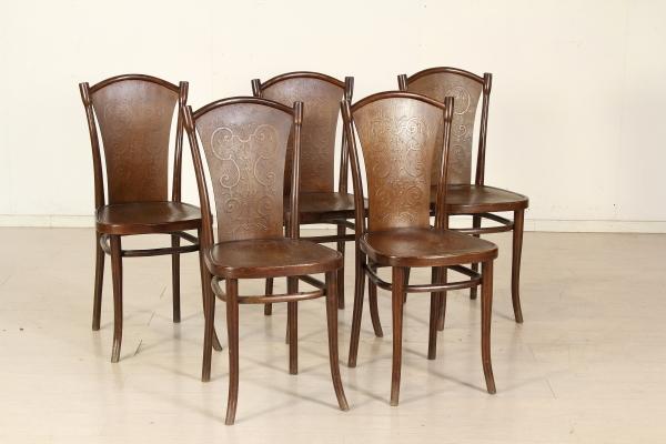 Gruppo 5 sedie thonet liberty bottega del 900 for Sedie thonet offerte