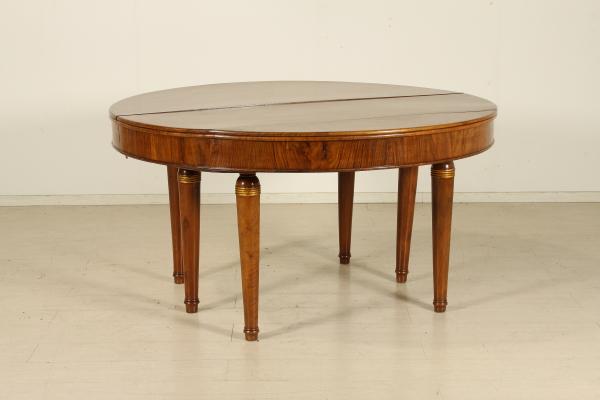 Tavolo tondo allungabile impero   tavoli   antiquariato ...