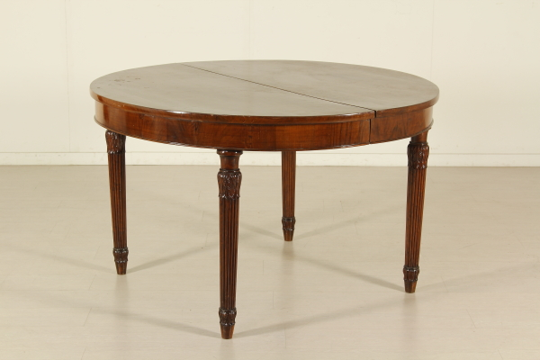 Tavolo tondo allungabile inglese tavoli antiquariato - Tavolo tondo allungabile ...