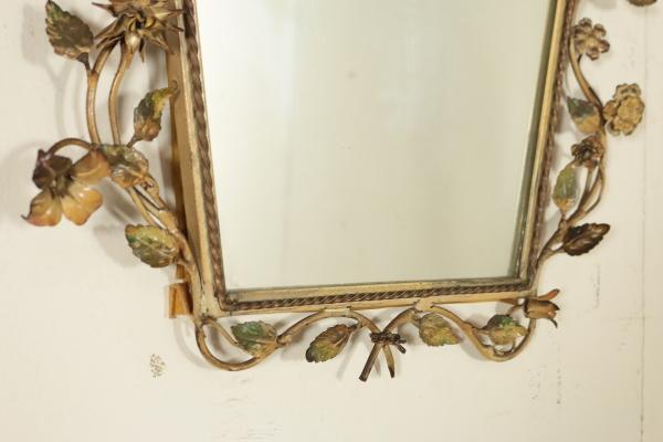 Arredi in ferro battuto complementi modernariato for Specchio in ferro battuto