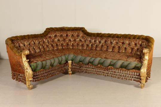 Salotto in stile barocco fine 800 arredi completi - Divano stile barocco usato ...